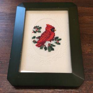 Cardinal cross stitch Christmas winter